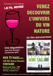 Projection du film Wine Calling suivi d'une dégustation @ MJC Nelson Mandela